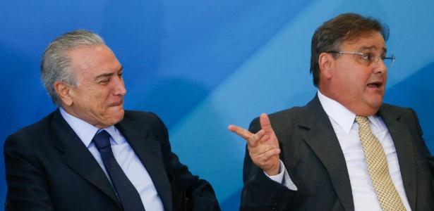 O presidente Temer e o então ministro Geddel Vieira Lima, que teve de se afastar do governo