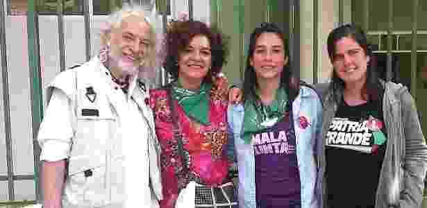 Os argentinos Raúl Montenegro, Cecilia Merchán, Sol de La Torre e Gisela Cernadas (da esq. para a dir.)  - Ana Carla Bermúdez/UOL