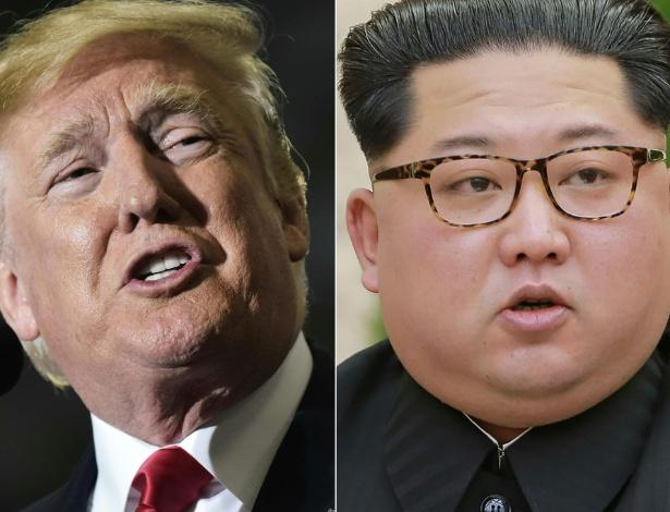 O presidente dos EUA, Donald Trump, e o líder da Coreia do Norte, Kim Jong-Un