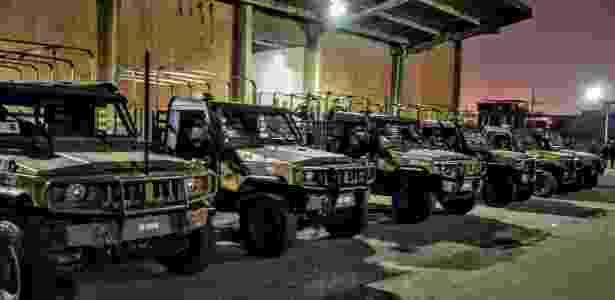 7.jul.2018 - Militares montam base temporária no Chapadão e na Pedreira, no Rio - Divulgação/Comando Conjunto - Divulgação/Comando Conjunto
