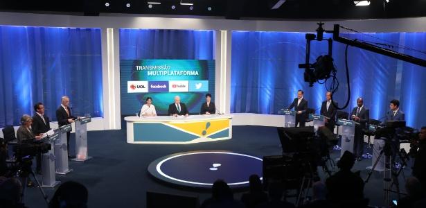 Candidatos ao governo de SP participam de debate da RedeTV!, em 24 de agosto