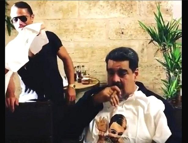 Vídeo mostra Maduro fumando um charuto em um badalado restaurante de Istambul - Reprodução de vídeo