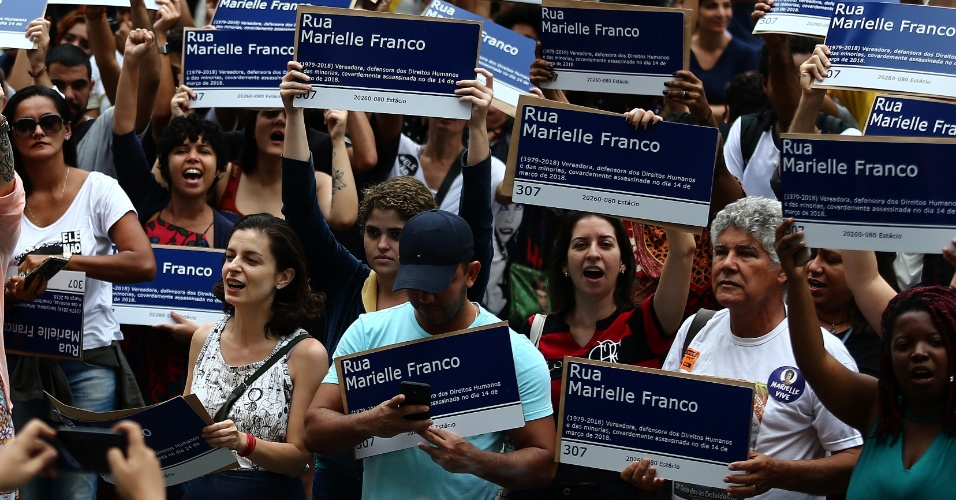 Mil placas em homenagem a Marielle Franco