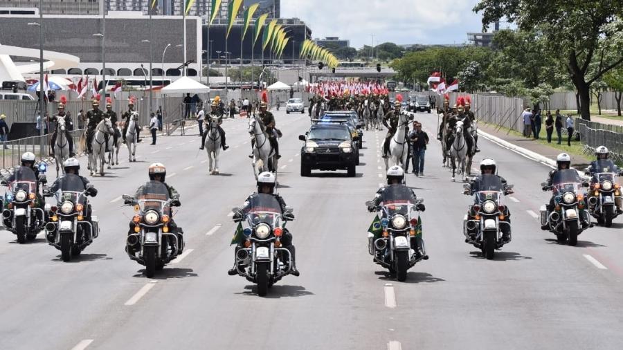 Ensaio da posse do presidente eleito Jair Bolsonaro na Esplanada dos Ministérios na tarde deste domingo (30), em Brasília - Divulgação