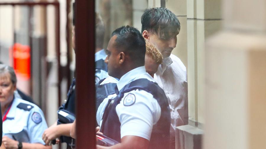 22.fev.2019 - James Gargasoulas chega a tribunal em Sydney para julgamento - AAP Image/David Crosling/via Reuters