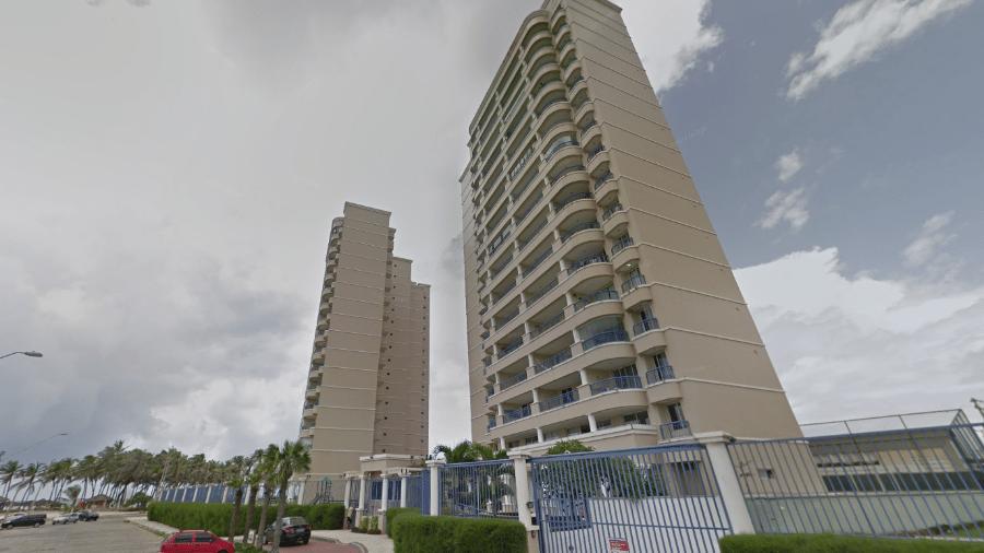 Prédio de onde caiu criança de três anos na Praia do Futuro, em Fortaleza - Reprodução/Google Maps