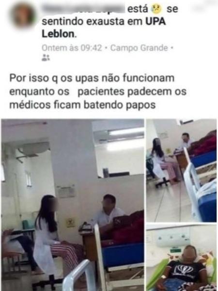 Sobrinha usou celular da tia para postar críticas a médicos de unidade de saúde - Facebook