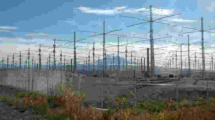 Haarp, projeto instalado no Alasca para estudar a ionosfera - Divulgação/Força aérea dos EUA