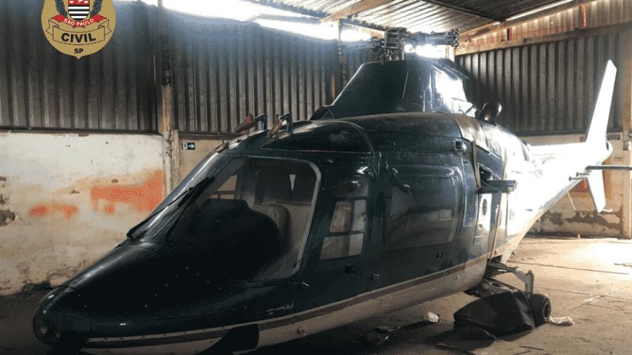 A aeronave foi localizada na cidade de Congonhas, em Minas Gerais - Divulgação/Polícia Civil