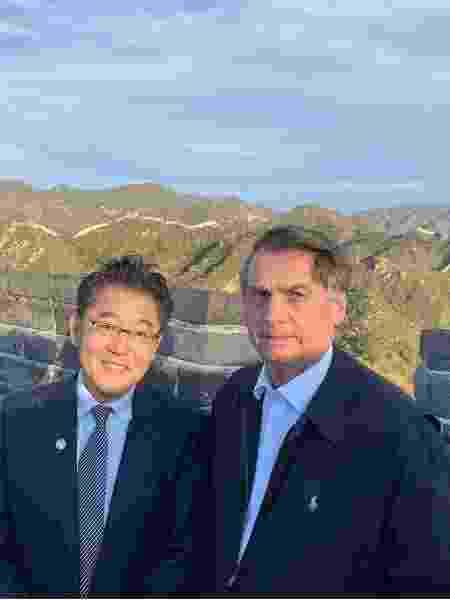 Winston Ling e Jair Bolsonaro - Reprodução Internet