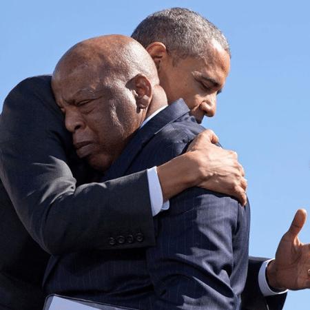 Barack Obama e John Lewis - Reprodução/Instagram