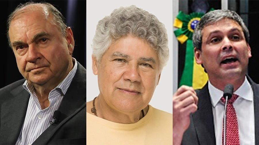 Cesar Maia (DEM), Chico Alencar (PSOL) e Lindbergh Farias (PT) - Reprodução