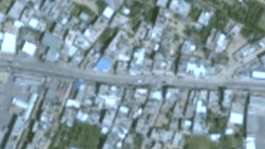 Imagens de Gaza no Google Earth aparecem em resolução bastante baixa, e datam de 2016 - Google