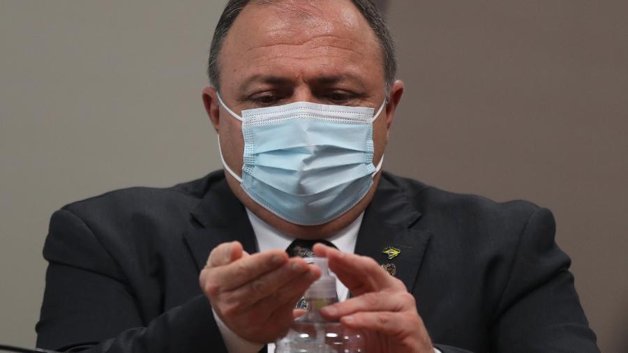 20.mai.2021 - O ex-ministro da Saúde, Eduardo Pazuello, durante 2º depoimento à CPI da Covid - Gabriela Biló/Estadão Conteúdo