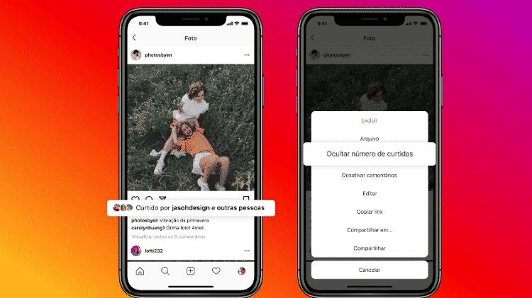 Instagram permitirá ocultar curtidas de posts específicos - Divulgação - Divulgação