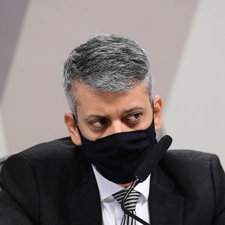 Roberto Ferreira Dias, ex-diretor do departamento de Logísica, na CPI da Covid - Pedro França/Agência Senado