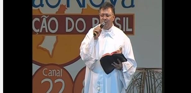 O padre Moacir Anastácio em imagem de reprodução