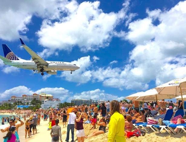 Além das lindas praias, aviões também são atrações turísticas em Saint Maarten