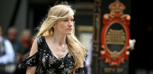 26.jul.2017 - Connie Yates, mãe de Charlie Gard, chega ao tribunal em Londres