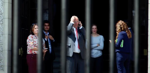 O ex-presidente PPK renunciou ao cargo após denúncia de receber propina da Odebrecht