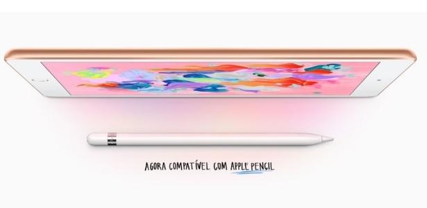 Novo iPad é compatível com Apple Pencil
