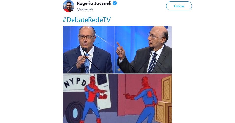 Meme Alckmin e Meirelles no debate da RedeTV!