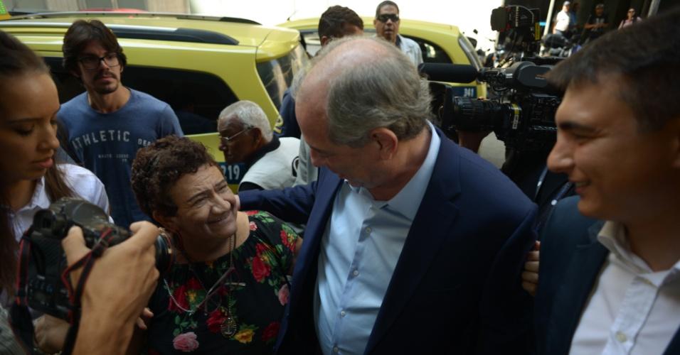 13.set.2018 - O candidato a presidencia pelo PDT, Ciro Gomes, conversa sobre pesquisa, ciencia e tecnologia na Academia Brasileira de Ciencia nesta quinta feira, dia 13 de setembro, no Centro do Rio de Janeiro