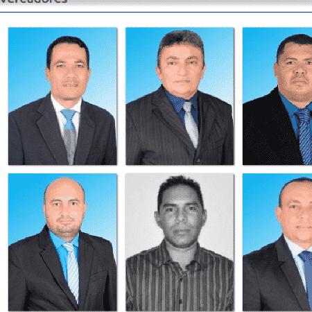 Fotos de vereadores de Augustinópolis no site da Câmara local - Reprodução