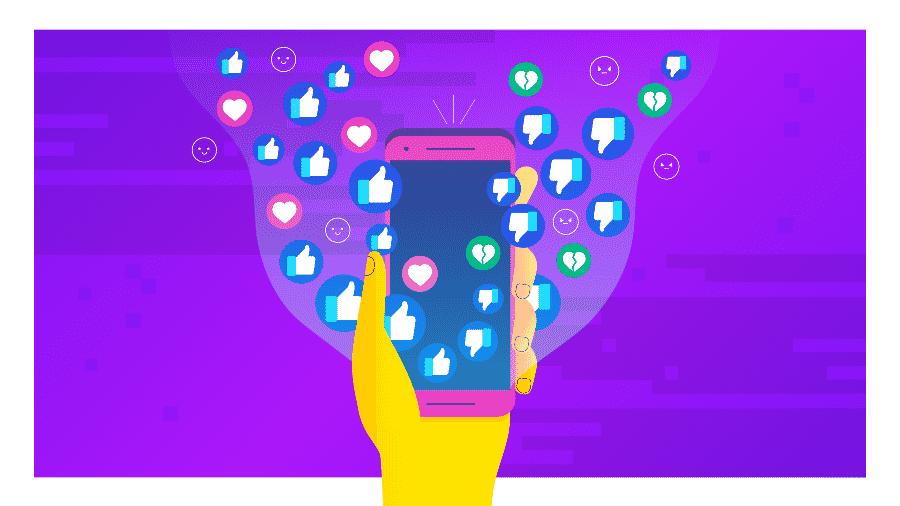 Facebook coleta informação não só de seus usuários mas também das pessoas que não possuem conta na rede social - Arte/UOL
