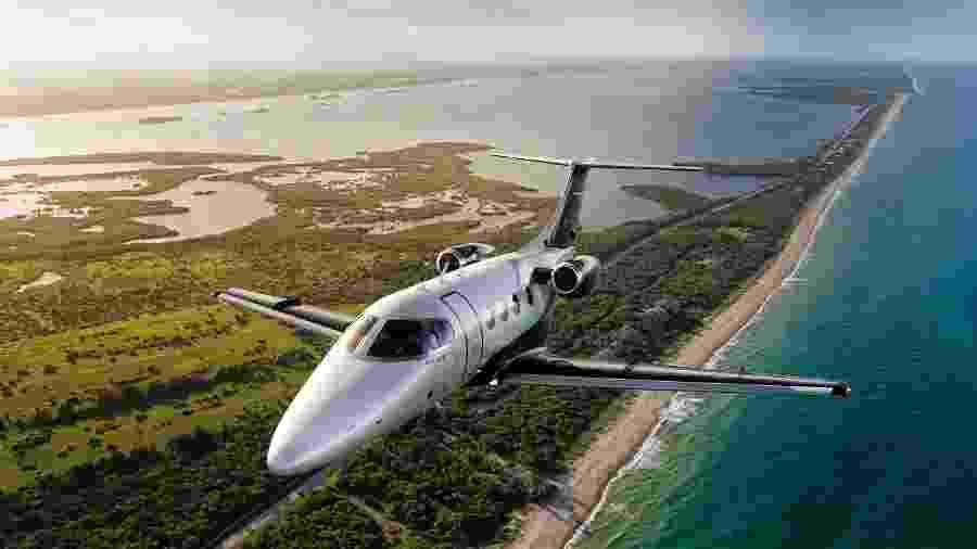 Phenom 100, da Embraer, é o jato executivo mais popular no Brasil - Divulgação