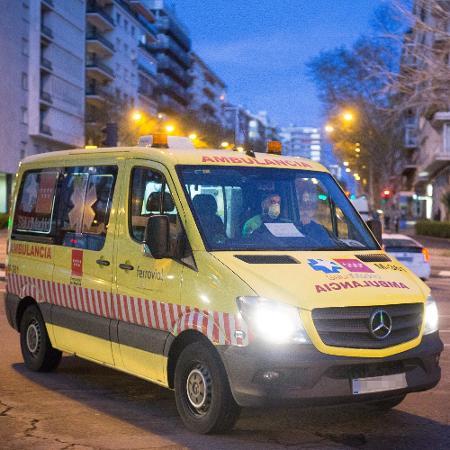 Ambulância em Madri, na Espanha - Europa Press News/Europa Press via Getty Images