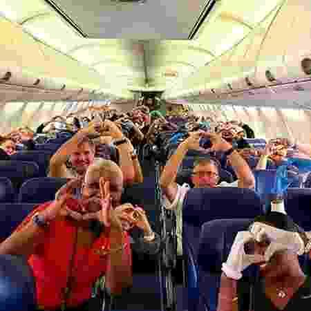 Foto com profissionais da saúde a caminho de Nova York para ajudar no combate à covid-19 viraliza - Reprodução/Instagram