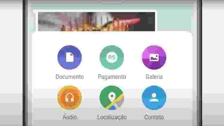 Função de enviar dinheiro e fazer pagamentos por meio do app será adicionada a menu dentro do WhatsApp - Reprodução/WhatsApp