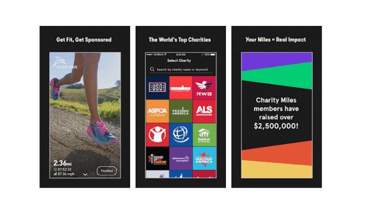 Charity Miles - Reprodução - Reprodução