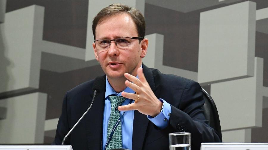 O diretor de Política Econômica do Banco Central, Fábio Kanczuk, em sabatina no Senado - Geraldo Magela/Agência Senado