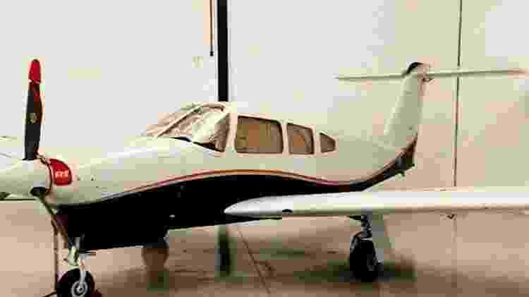 Avião usado pelo PCC para o tráfico, apreendido na operação Além-Mar, em agosto de 2020 - Divulgação - Divulgação