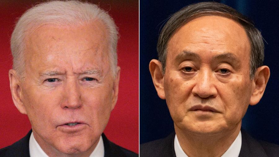 O presidente e o premiê também debaterão o tratamento chinês aos muçulmanos na região de Xinjiang e a influência da China sobre Hong Kong - Mandel Ngan e Yuichi Yamazaki/AFP