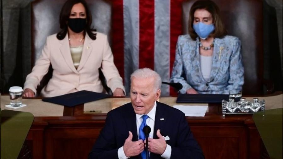 Biden discursa no Congresso para marcar seus 100 primeiros dias no cargo; propostas são arrojadas - e caras - EPA