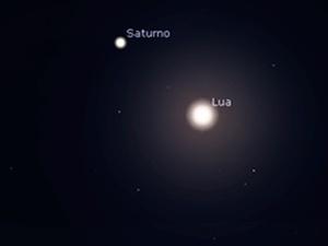 Observando o céu   Quer observar Júpiter e Saturno hoje à noite? Guie-se pela Lua