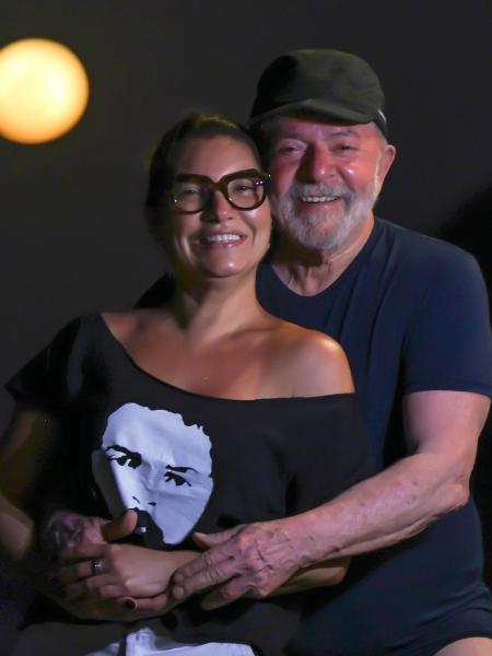 23.ago.2021 - Lula e Janja posam para foto de Ricardo Stuckert, no Ceará - Reprodução / Twitter