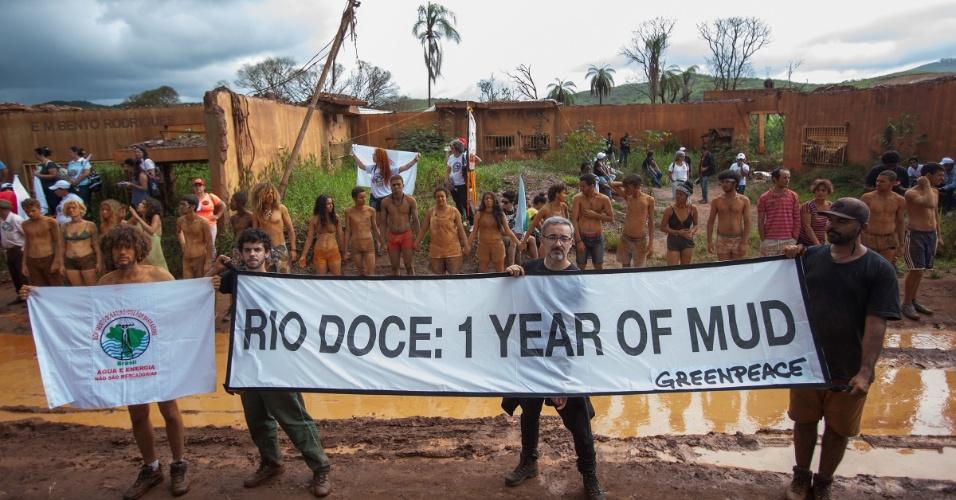 5.nov.2016 - Estudos independentes apresentados pelo Greenpeace no Seminário Rio de Gente mostraram como a lama de rejeitos continua a causar profundos impactos ambientais e sociais para o Rio Doce e todos aqueles que dele dependem