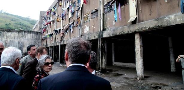 A presidente do STF e do CNJ, Cármen Lúcia, vistoriou nesta sexta-feira (18) as instalações do Presídio Central de Porto Alegre