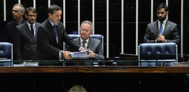 """Para o presidente do Senado Federal, Renan Calheiros (PMDB-AL), PEC é """"vitória do país"""" - Jane de Araújo/Agência Senado"""