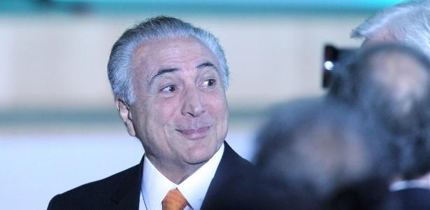 O presidente Michel Temer (PMDB) durante evento com empresários em São Paulo