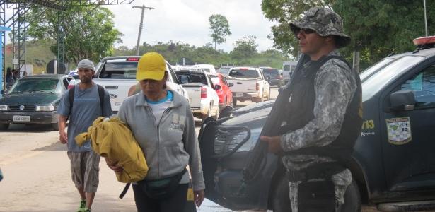 24.ago.18 - Fronteira de Pacaraima, entre Brasil e Venezuela, local da chegada massiva de refugiados venezuelanos em Roraima