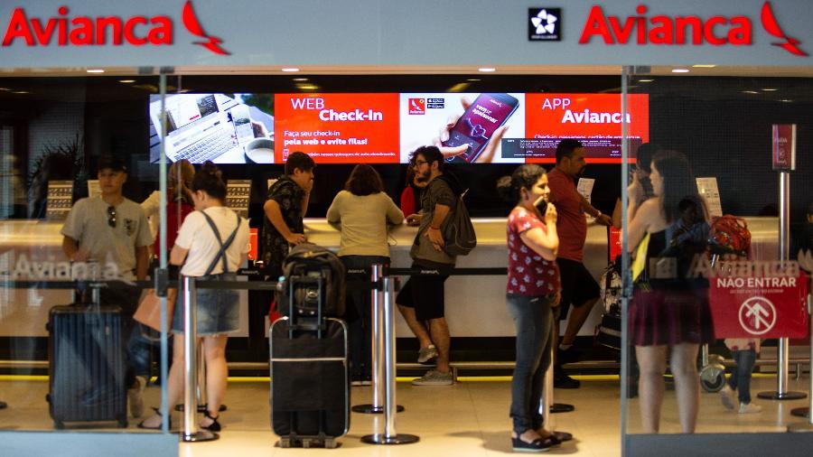 Check-in da Avianca no Aeroporto Internacional de São Paulo, em Guarulhos  - Por Marcelo Rochabrun
