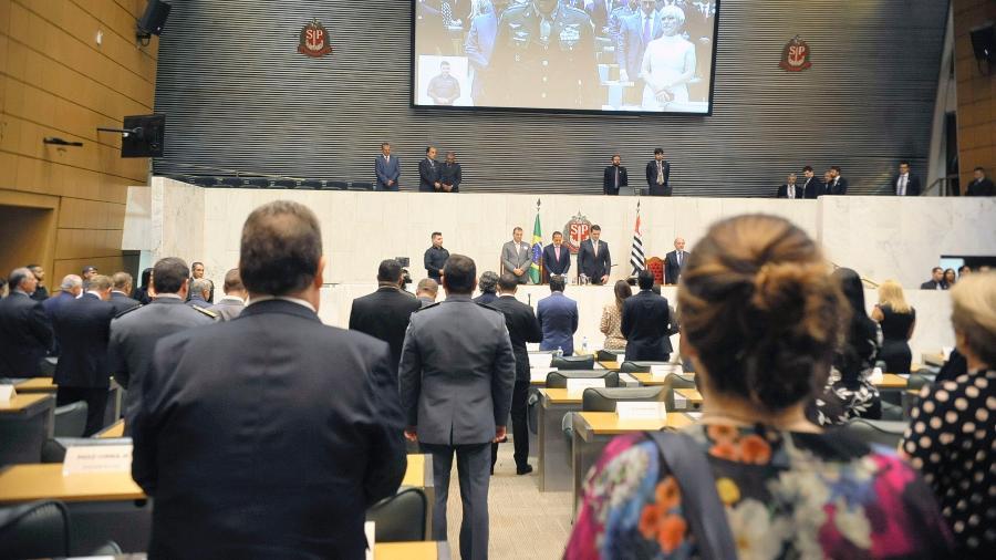 15.mar.2019 - Deputados eleitos tomam posse na Alesp  - Alesp
