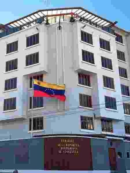 Embaixada da Venezuela em La Paz, na Bolívia - Divulgação