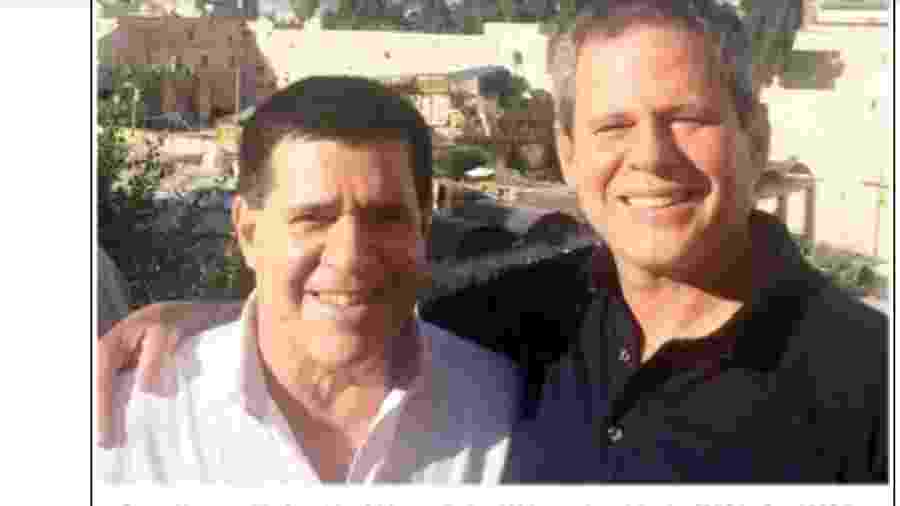 O ex-presidente do Paraguai Horacio Cartes (à esq.) e o doleiro Dario Messer durante visita oficial a Israel - Reprodução