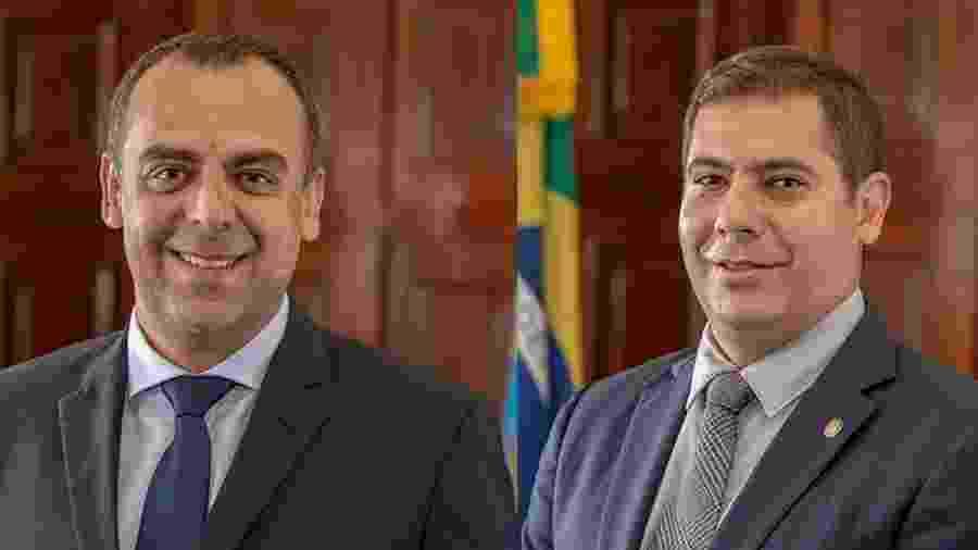 Os deputados estaduais Anderson Moraes e Dr. Serginho, do PSL-RJ - Divulgação/Alerj